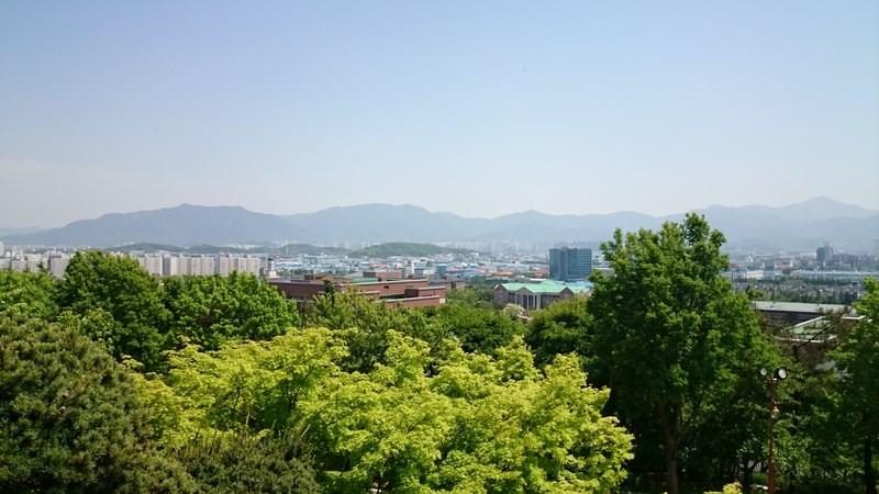 Panorama de la chapelle de l'université Keimyung de Daegu