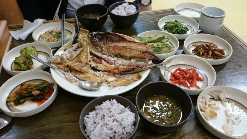 Repas traditionnel coréen de Daegu