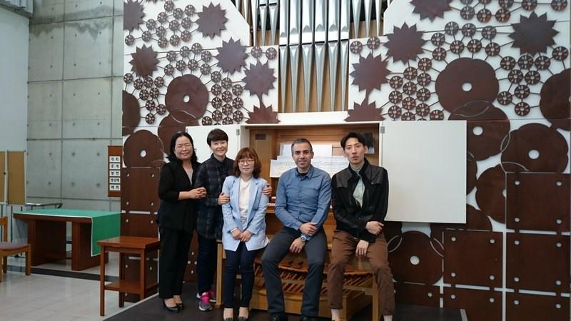 Classe d'orgue de l'université Seongkonghoe de Séoul lors de ma masterclass