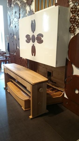 Console de l'orgue de Michel Jurine de l'université Seongkonghoe de Séoul