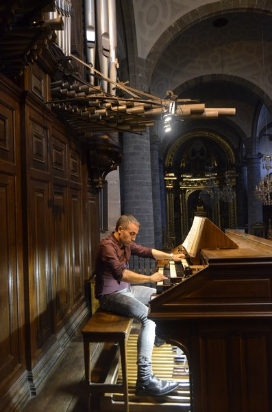 Willy Ippolito à l'orgue Cavaillé-Coll, Eglise Santa Maria Réal à Azkoitia