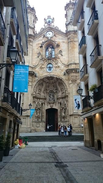 Façade de la Basilique du Sacré coeur de San Sebastian