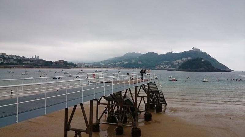 San Sebastian , vue sur la mer