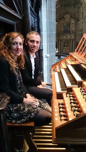 Loreto Aramendi et Willy Ippolito lors du concert à la Basilique de San Sebastian
