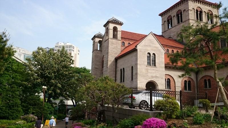 Vue sur la Cathédrale de Séoul