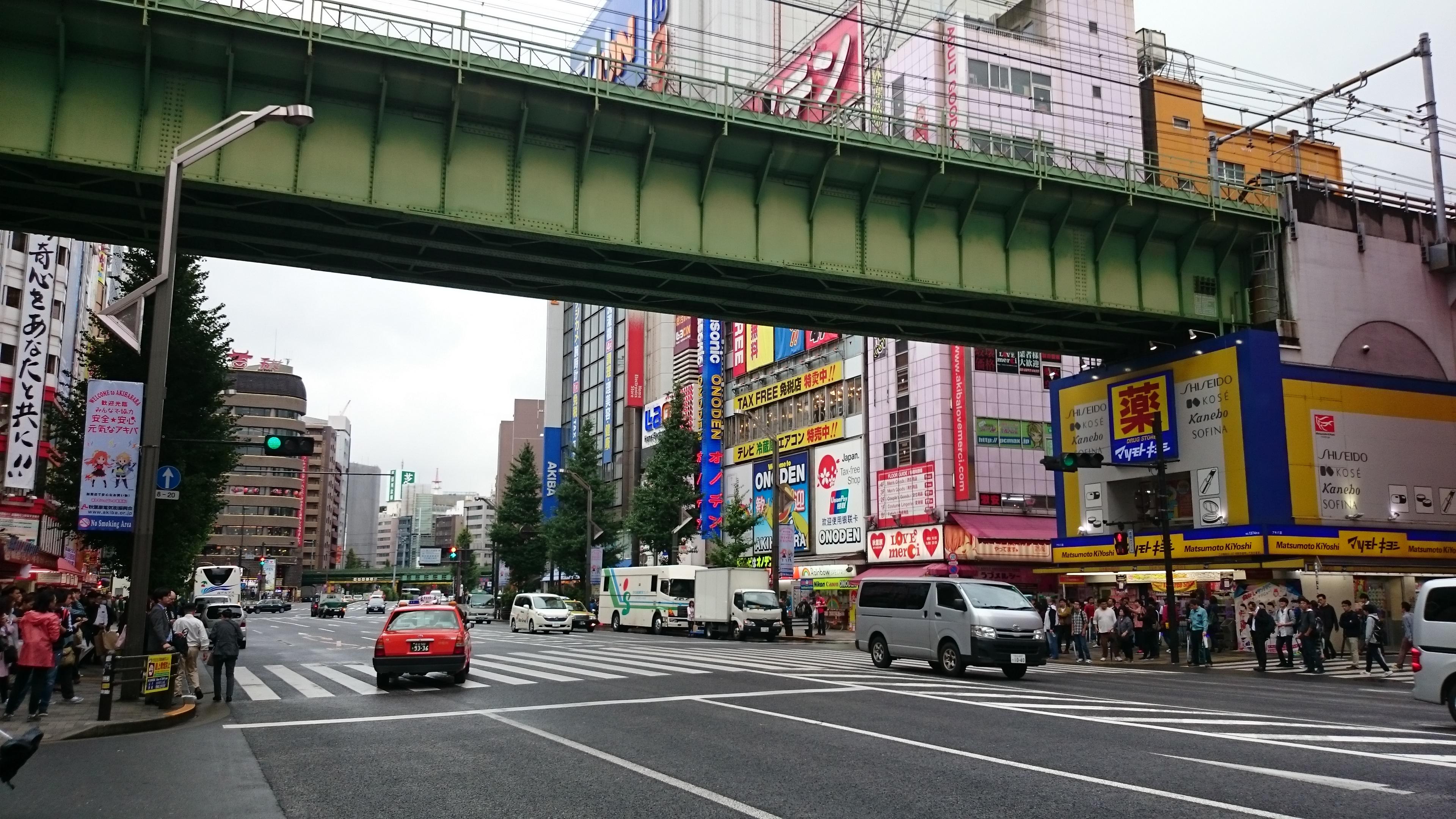 ponts pour piétons, Akihabara, Tokyo, Japon